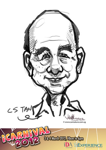 digital live caricature for iCarnival 2012  (IDA) - Day 1 - 17