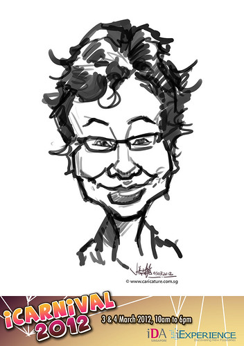 digital live caricature for iCarnival 2012  (IDA) - Day 1 - 16