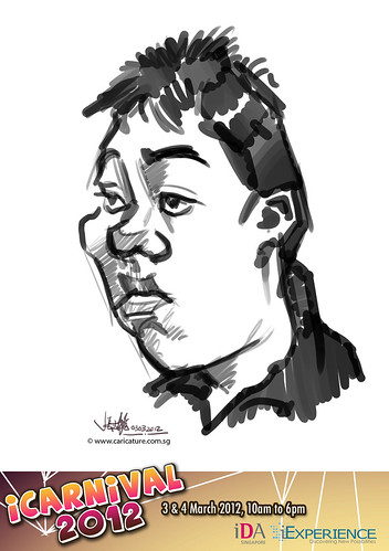 digital live caricature for iCarnival 2012  (IDA) - Day 1 - 58