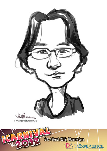 digital live caricature for iCarnival 2012  (IDA) - Day 1 - 92