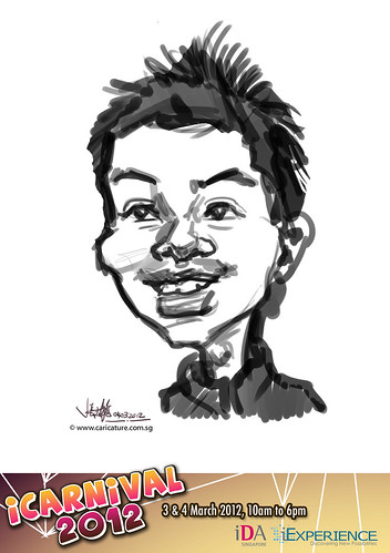 digital live caricature for iCarnival 2012  (IDA) - Day 2 - 9