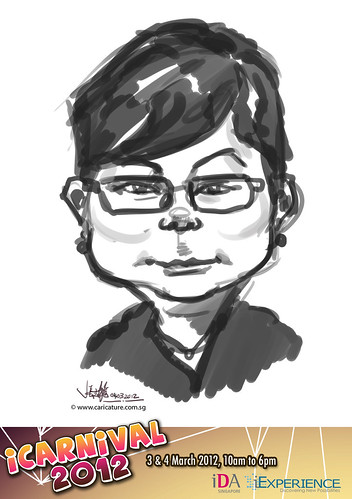 digital live caricature for iCarnival 2012  (IDA) - Day 2 - 54
