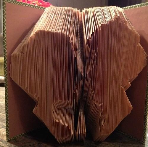 Folded Book Couple Silhoutette
