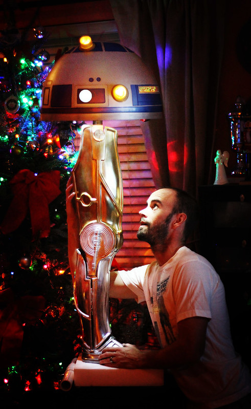 so based on a joke my wife total genius made about 9 months ago i made a star wars christmas story leg lamp crossover from parts i had around the house