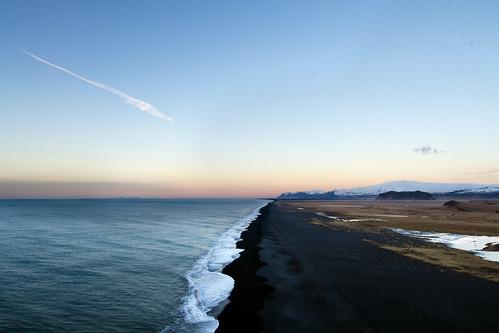 ocean black beach sunrise landscape iceland sand nikon europe south glacier nikkor 1224mm f4 afs vík eyjafjallajökull d7000 dyrhólafjara