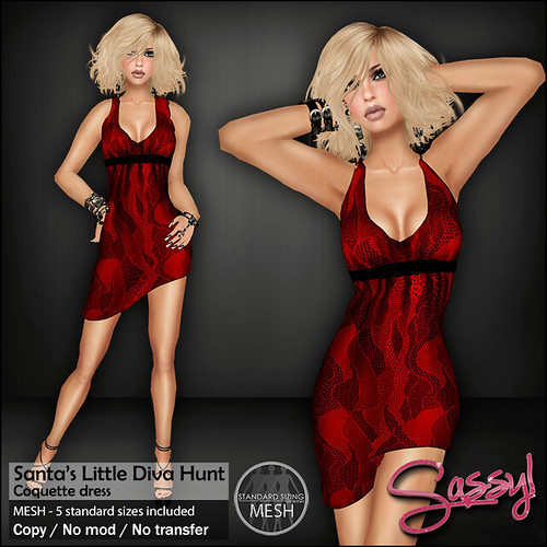 Coquette dress - Santa's Little Diva Hunt