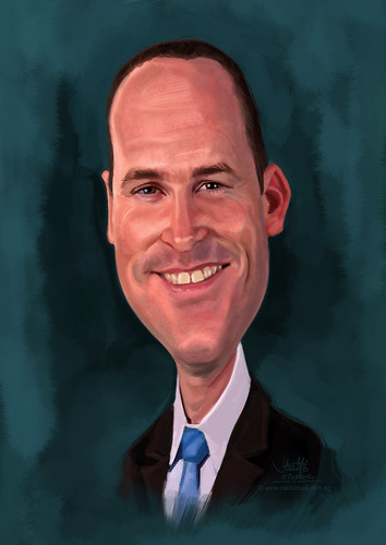 digital caricature for Hewlett Packard