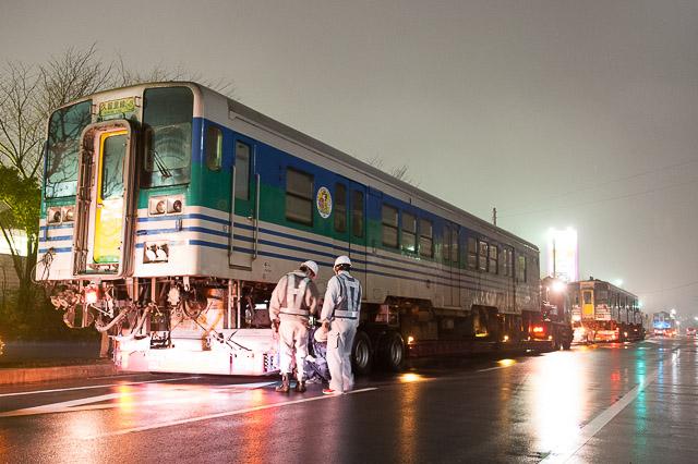 久留里線 キハ38 1 キハ38 3 キハ38 1001 郡山総合車両センターから搬出・陸送される