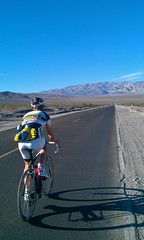 Coach Parker heading up the Epic 17mile Climb - Town Pass, Death Valley, CA
