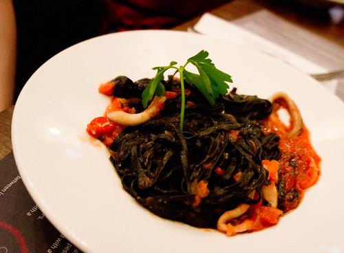 Zizzi's squid spaghetti