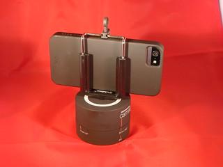 iPhone with bracket mount on Camalapse