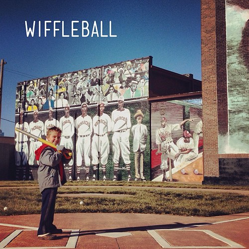 Best #wiffleball field ever. Need to get a full game going on this. #wiffle #kansascity #monarchs