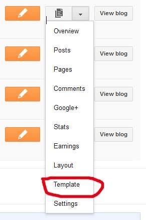 cara mengganti template blogspot