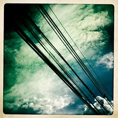 wires and clouds