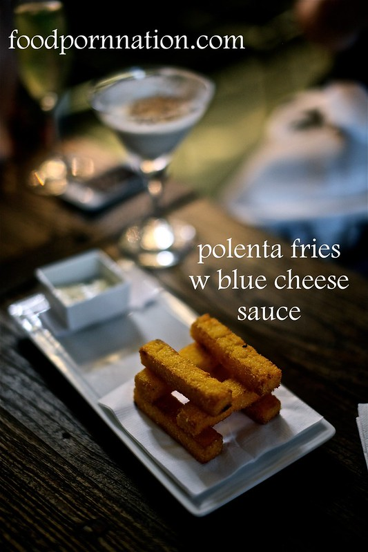 polenta fries w blue cheese sauce