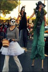 Dia de los Muertos parade stilt-walkers