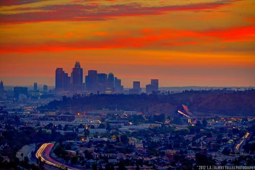 california longexposure nightphotography sunset digitalphotography traffictrails 110freeway creativephotography canoneosdigitalslr discoverlosangeles rebelt2i albertvalles beautifulpicturesandcolorsoflosangeles losangelesskilne ilovelalastdaysof2012