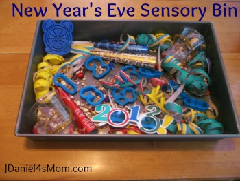 New Year's Eve Sensory Bin (Photo from JDaniel4's Mom)