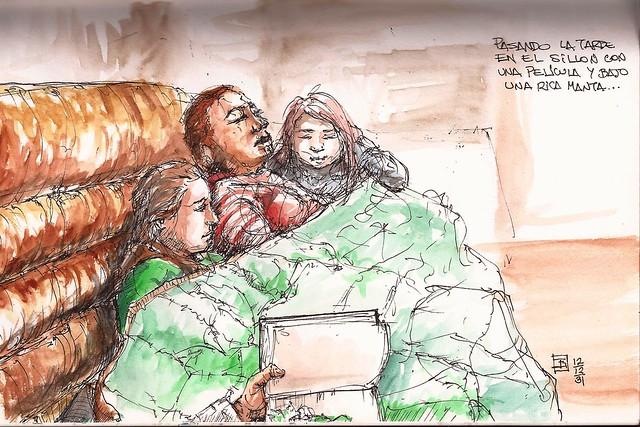 2012-12-31 Tarde de Sillon manta y película