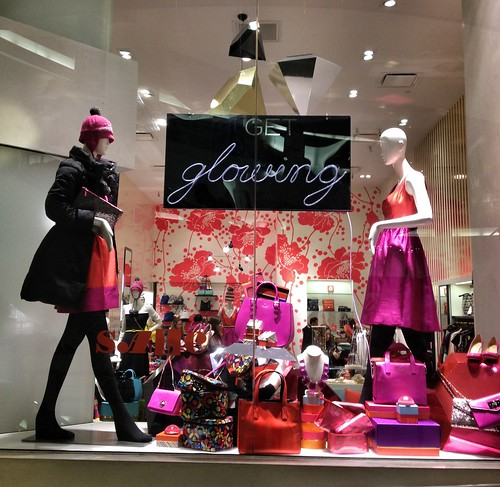 Kate Spade Winter Window Display