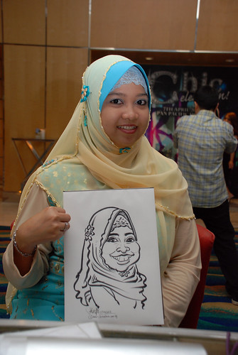 caricature live sketching for Civica Dinner & Dance 2012 - 21
