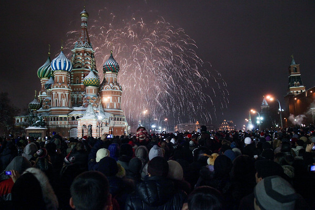 New Year 2013 on Red Square and the main streets of Moscow