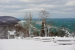 Winter at Inspiration Point - Arcadia, Michigan by Michigan Nut