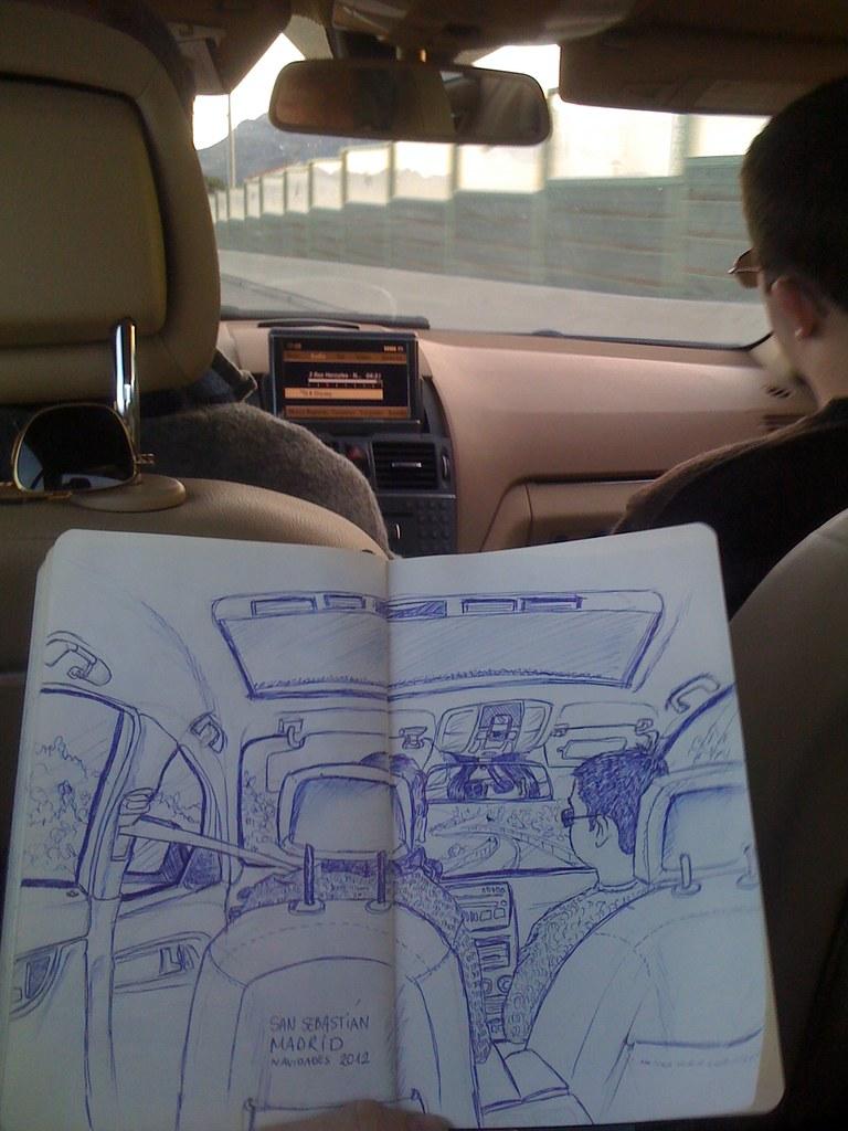 viaje Donosti ilustración