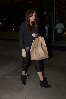 Khloe Kardashian Wedge Sneakers Celebrity Style Women's Fashion