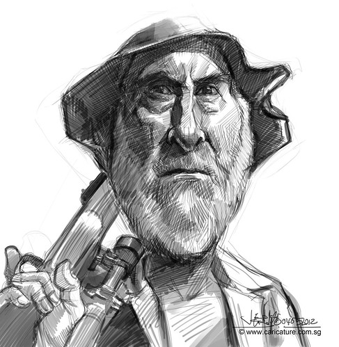 digital caricature sketch of Dale
