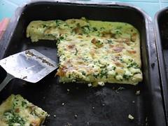 meal(0.0), produce(0.0), zucchini(0.0), cucurbita(0.0), frittata(1.0), food(1.0), dish(1.0), cuisine(1.0), quiche(1.0),