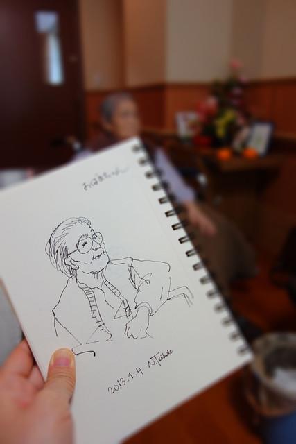 祖母の似顔絵 My grandmother's portrait