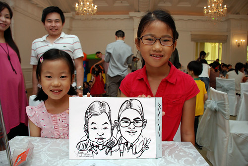 caricature live sketching for birthday party 28042012 - 6