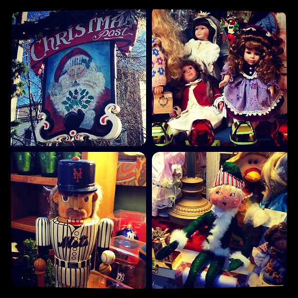 Vintage dolls: creepy or cute? At Christmas Past in New Hope PA
