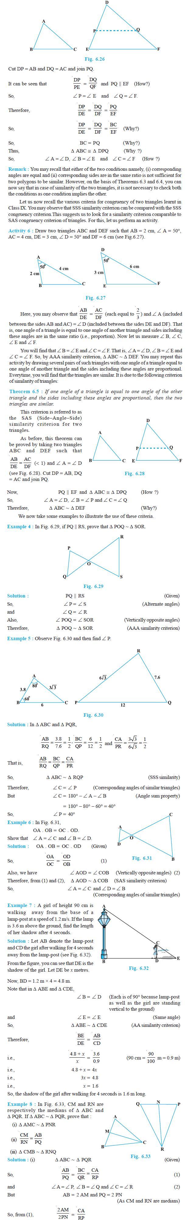 NCERT Class X Maths: Chapter 6 - Triangles