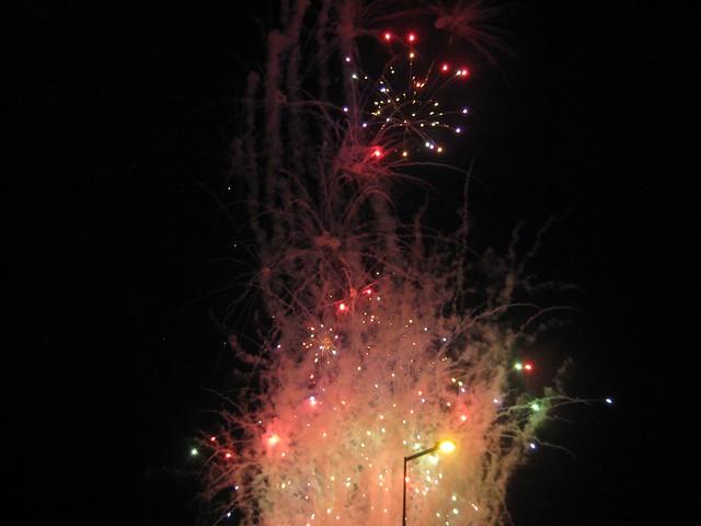 Start line fireworks
