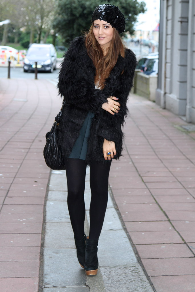 fur coat pretty girl