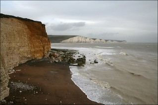 The beach at Hope Gap west of Cuckmere Haven