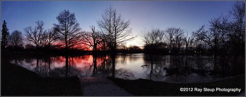 sunset indiana fortwaynein fosterpark januarysunset saintmarysriver sonydschx9v