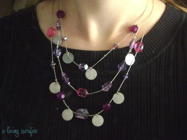pink n purple necklace