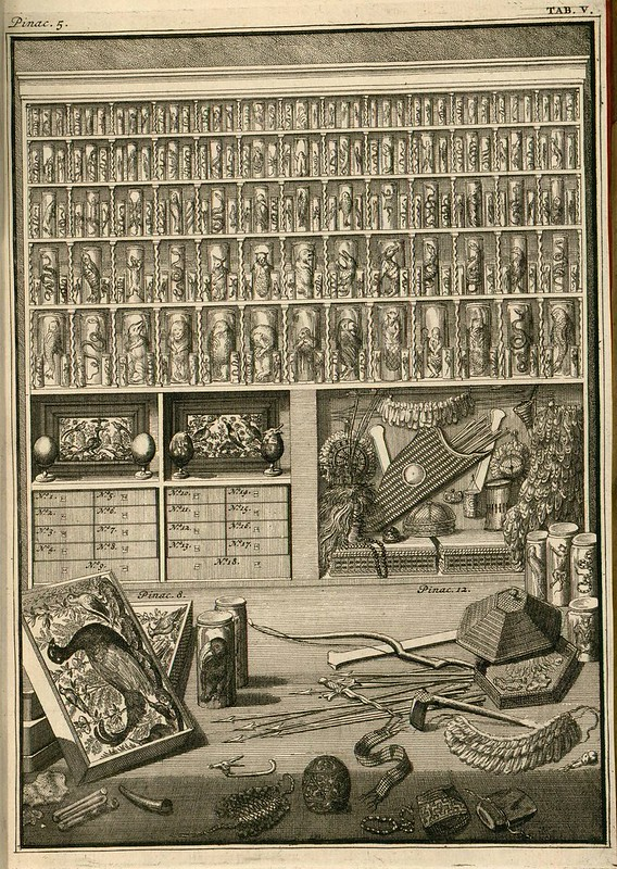 book engraving : collection cabinet of 1700s
