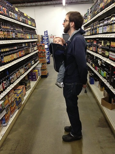 Daddy and Elliott at Port Chester Beer Distributors