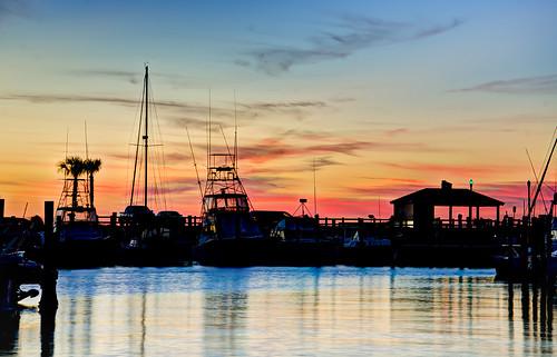 sunset marina boat florida