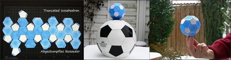 Abgestumpftes Ikosaeder und Fußball