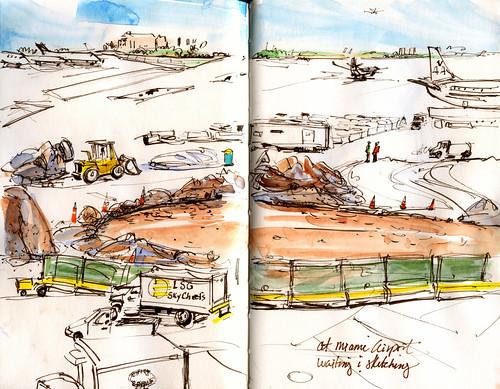 Miami airport construction