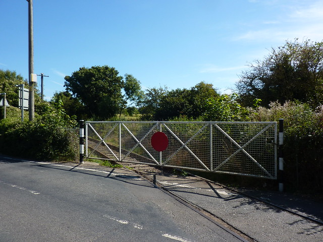 Locked level crossing gate