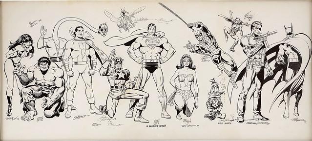 Martin Greim Jam 1978-82, Curt Swan, Wally Wood, John Byrne, Jack Kirby, etc
