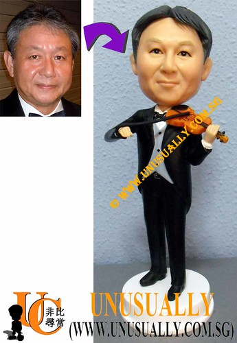 Personalized 3D Smart Violin Musician Figurine - @www.unusually.com.sg