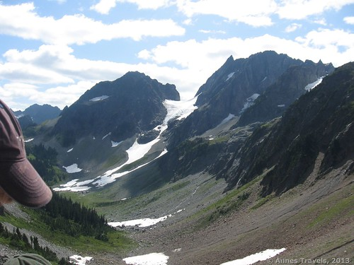 The view from where we ate lunch, a few hundred feet beyond Cascade Pass, North Cascades National Park, Washington