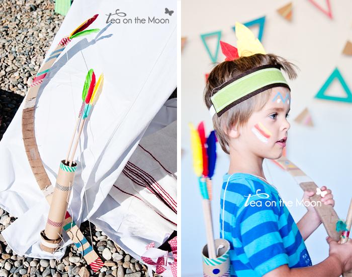 arco y flechas de disfraz de indio Arrow indian costume